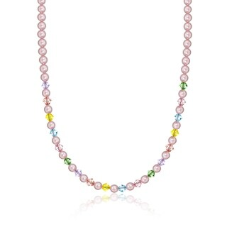 Pink Pearls and Multi-colored Crystals Baby and Child's Necklace