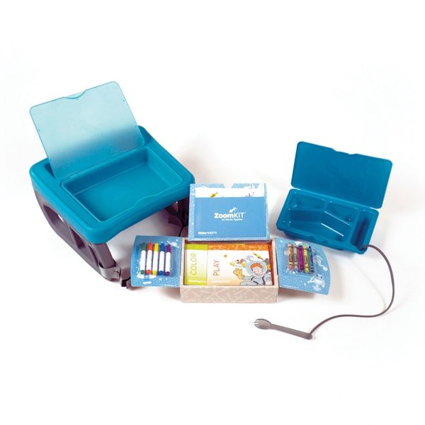 ZoomKIT Travel Table & Activity System, Bundle Turquoise