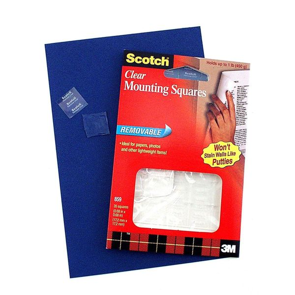Removable Mounting Squares [Pack of 6]
