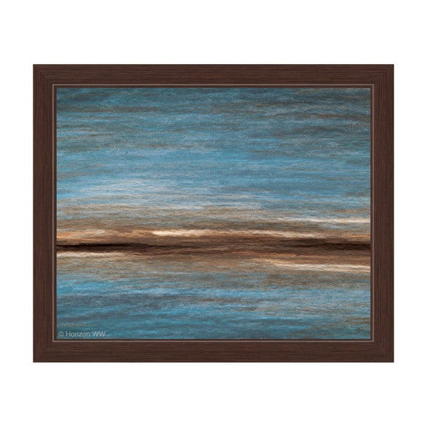 Dirt Path Line Framed Canvas Wall Art