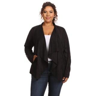 Hadari Women's Plus Size Long Sleeve Jacket