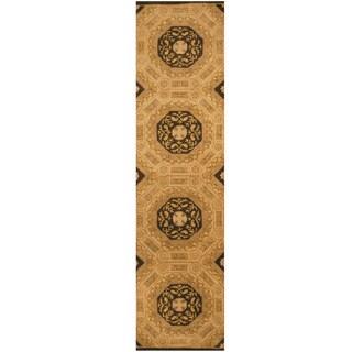 Herat Oriental Indo Hand-tufted Wool Runner (2'6 x 10')
