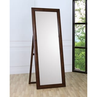 "Coaster Company Hillary Brown Rectangular Floor-length Standing Mirror - 29.75"" x 1.25"" x 77"""