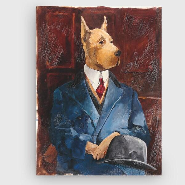 Wexford Home 'Inspector Dog Leash' Canvas Art
