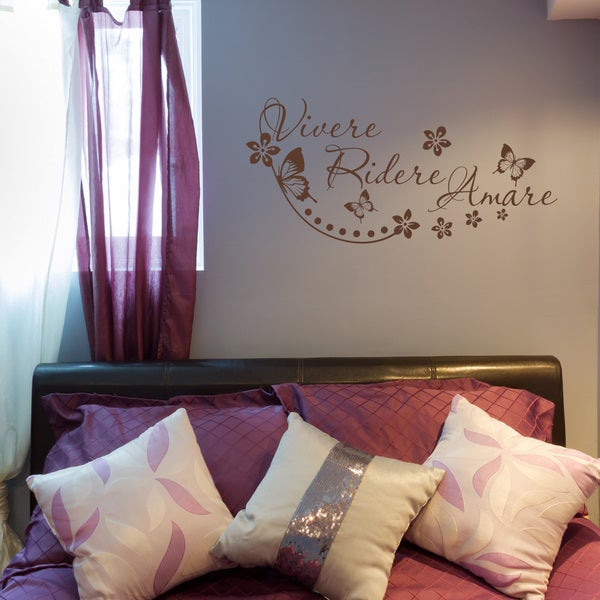 'Vivere, Ridere, Amare' Vinyl Wall Decal