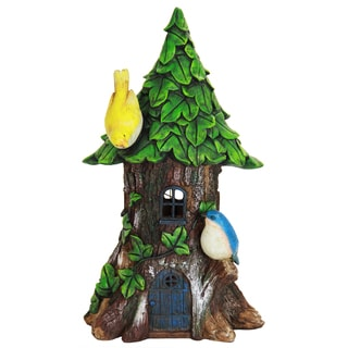 Exhart Solar Leaf-roof House Statue