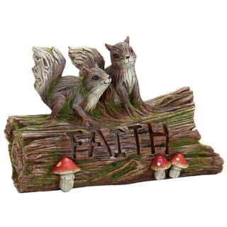 Exhart Solar Woodland 'Faith' Log with Squirrels
