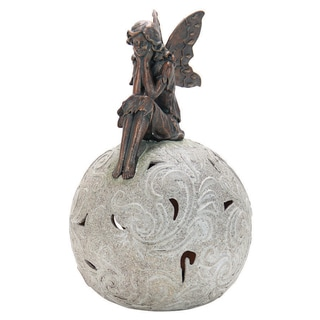 10.5-inch Solar Orb with Bronze Fairy