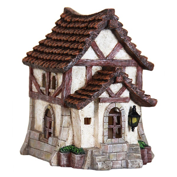 9.5-inch Solar Thatched Roof House
