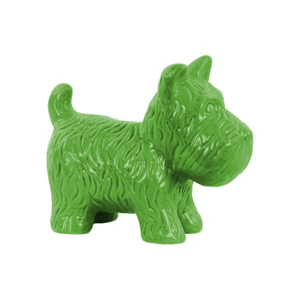 Urban Trends Collection Glossy Green Finish Ceramic Standing Welsh Terrier Dog Figurine