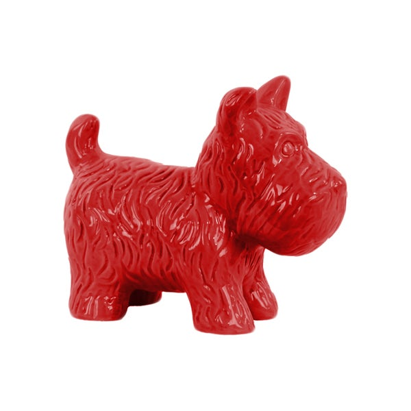 Urban Trends Collection Glossy Red Ceramic Standing Welsh Terrier Dog Figurine