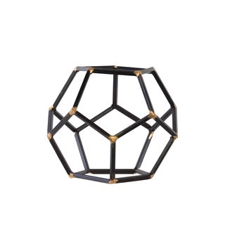 Urban Trends Collection Metal Rust Black-finish Polygonal Sculpture