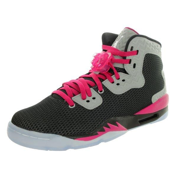 Nike Kids' Air Jordan Spike Forty Gg Black/White/Rflct Slvr/Sprt Fchs Basketball Shoe