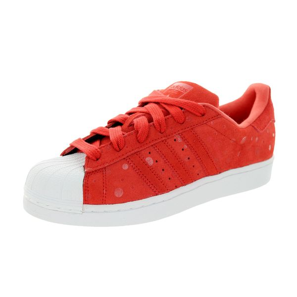 Adidas Women's Superstar Originals Red/White Casual Shoe