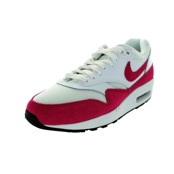 Nike Women's Air Max 1 Essential White/Sport Fuchsia/Black Running Shoe