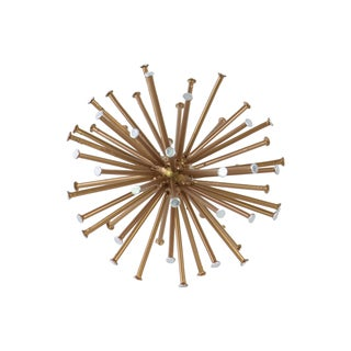 Urban Trends Collection Gold Metal Sea Urchin Ornamental Figurine