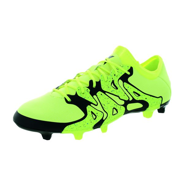 Adidas Men's X 15.2 FG/AG Yellow/Black Soccer Cleats