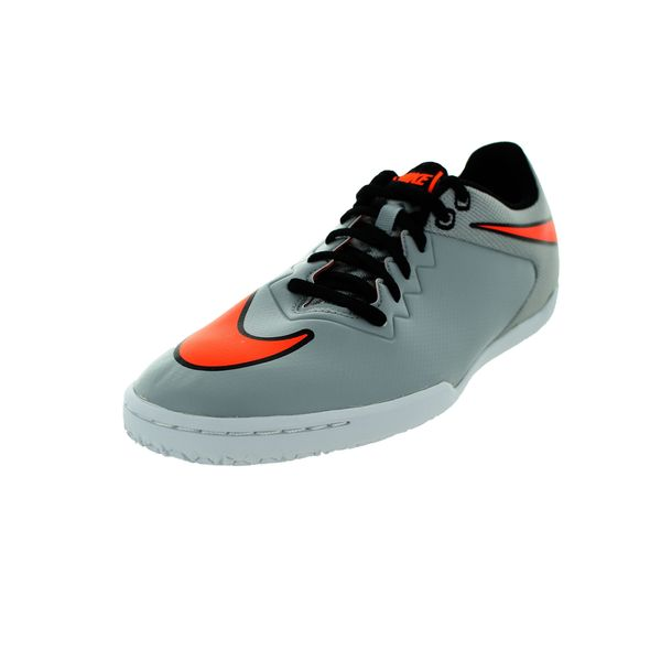 Nike Men's Hypervenomx Pro Ic Wolf Grey/T Orange/White/Black Indoor Soccer Shoe