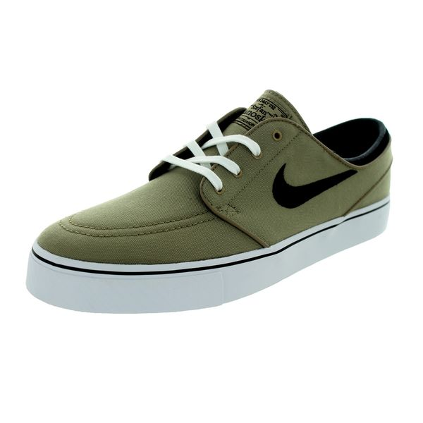 Nike Men's Zoom Stefan Janoski Khaki/Black/White Canvas Skate Shoe