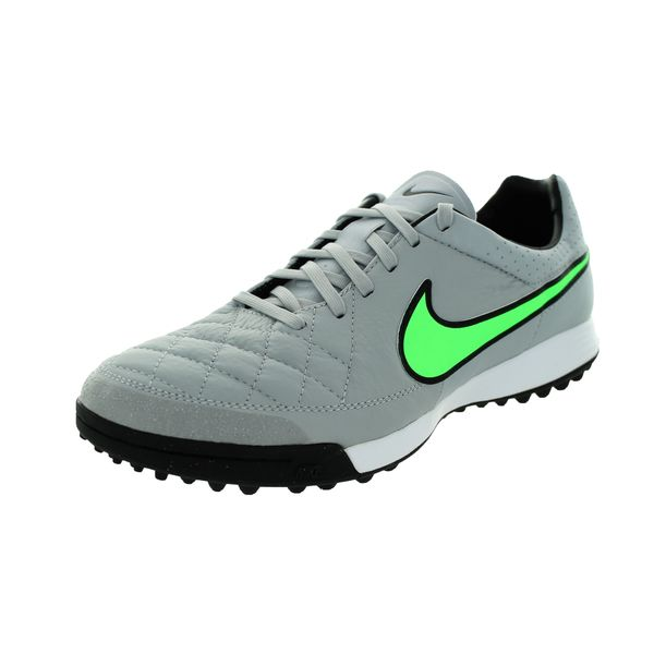 Nike Men's Tiempo Legacy Wolf Grey/Green Strike/Black/Black Turf Soccer Shoe