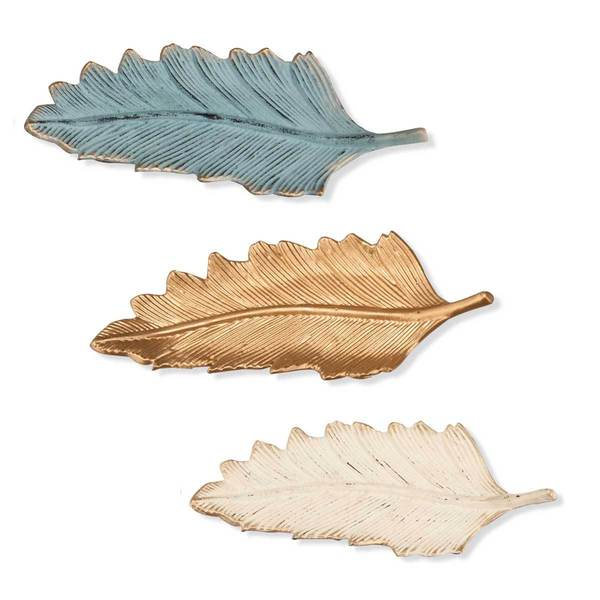 Feather Trinket Trays (Set of 3)