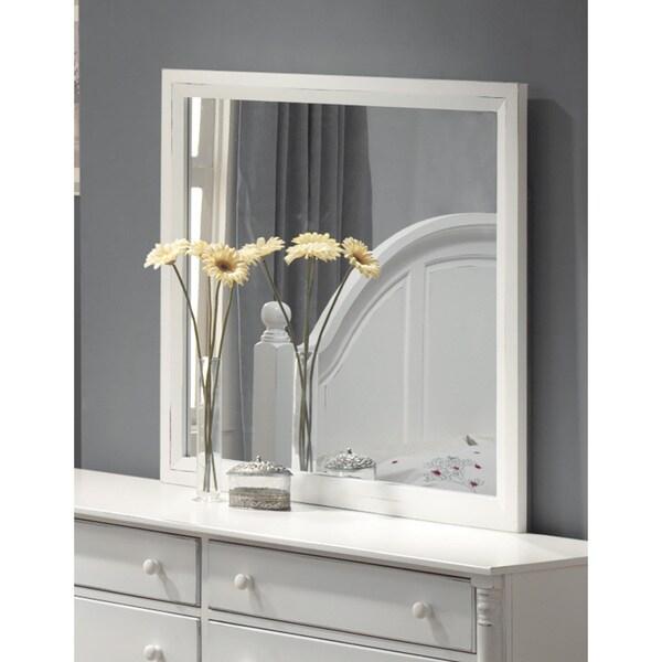 Peyton White Mahogany Mirror