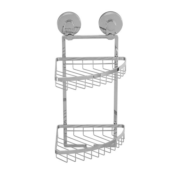 Everloc Solutions Stainless Steel Suction Cup Double Corner Basket 19930621