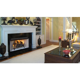 WRT2036 36-inch Radiant Wood Burning Fireplace with White Stacked Refractory
