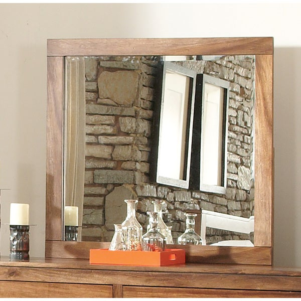 Peyton Brown Mahogany Mirror