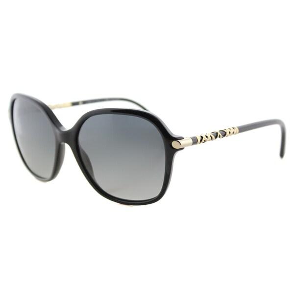 Burberry BE 4228 3001T3 Black Plastic Square Grey Gradient Polarized Lens Sunglasses