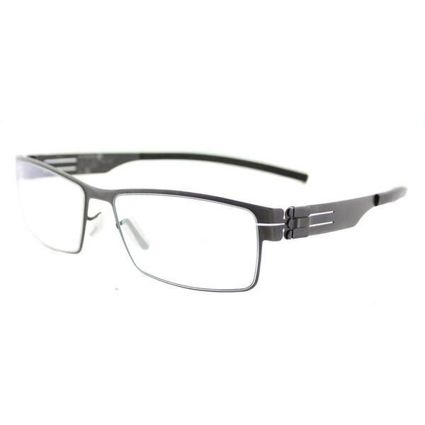 Ic Berlin Peter C. Graphite Black Metal 53-millimeter Rectangle Eyeglasses