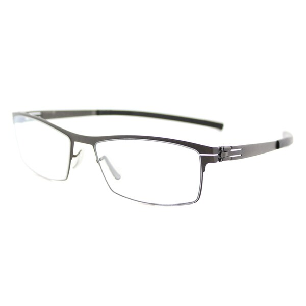 Ic Berlin Alwin C. Graphite Black Metal Rectangle 50mm Eyeglasses