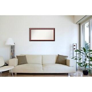 Wall Mirror Choose Your Custom Size - Extra Large, Cambridge Mahogany Wood