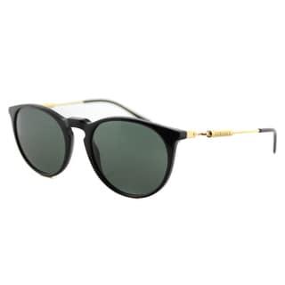 Versace VE 4315 GB0.141 Black Plastic Round Green Lens Sunglasses