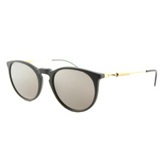 Versace VE 4315 51985A Green Sand Plastic Round Gold Mirror Lens Sunglasses