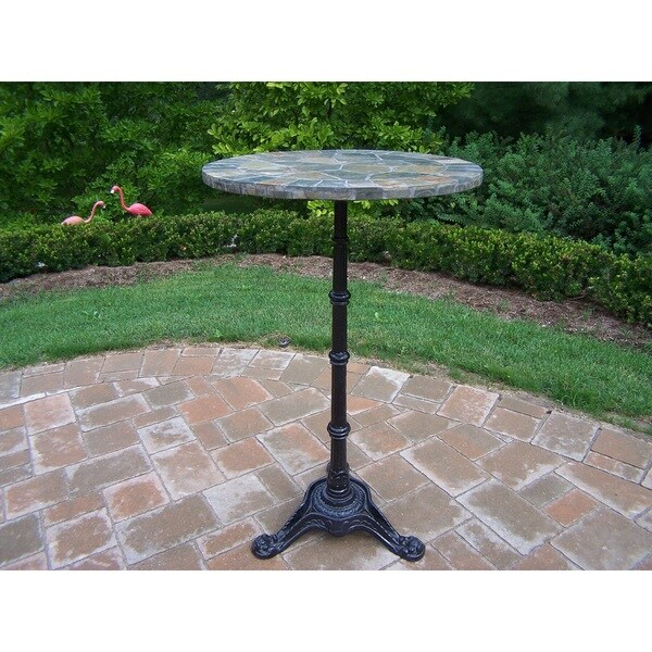 24-inch Bar Table with authentic stone formed top