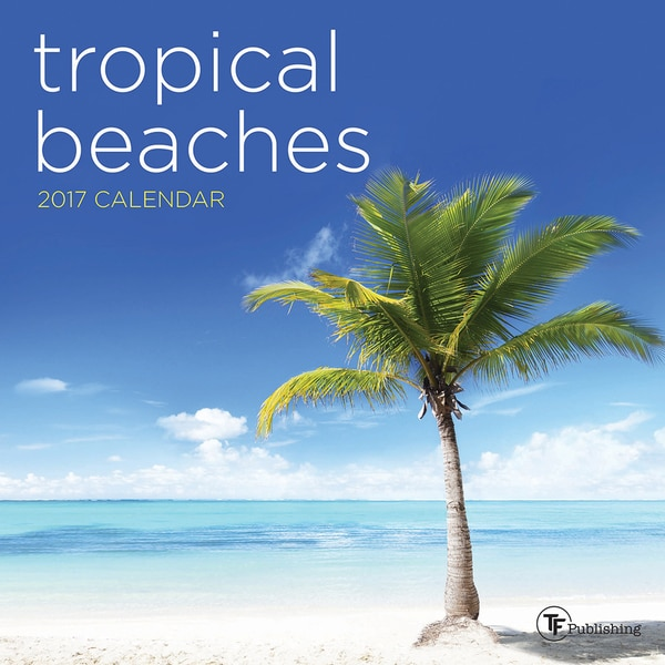2017 Tropical Beaches Mini Calendar
