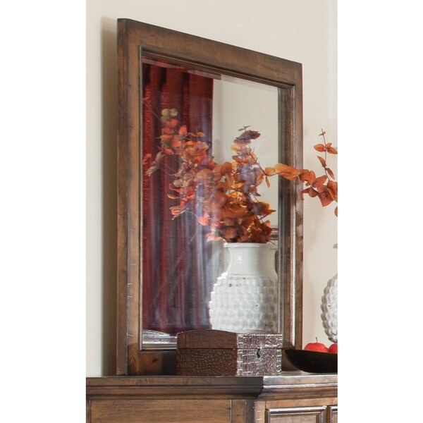Bourbon Brown Wood Mirror