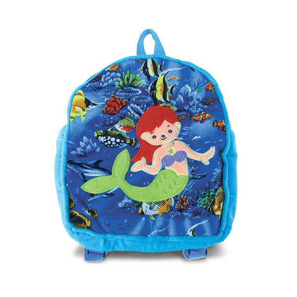 Puzzled 11-inch Backpack - Mermaid