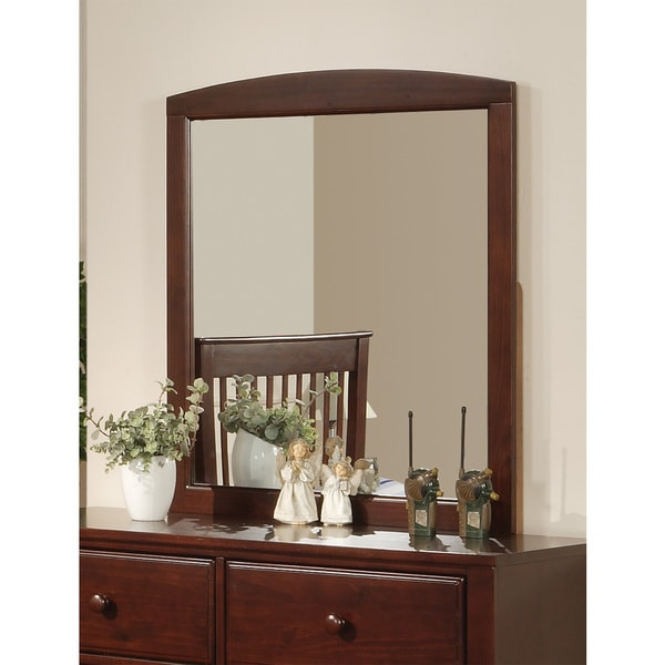 Brown/ Red Pine Mirror