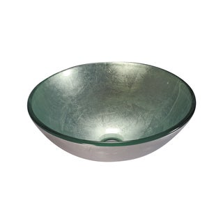 Legion Furniture Silver Tempered Vessel Sink Bowl