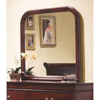 Louis Philippe Red Wood Mirror