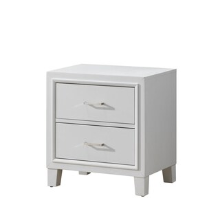 Beige 2-Drawer Nightstand