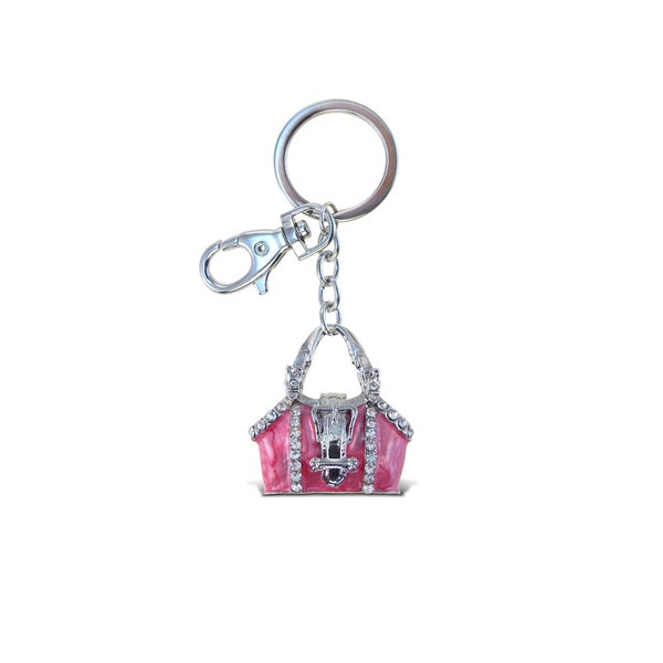 Puzzled Pink Purse Sparkling Charm