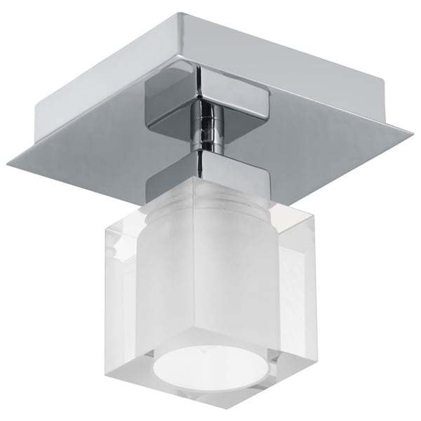 Eglo Bantry Nickel and Opal Frosted Glass Ceiling Light