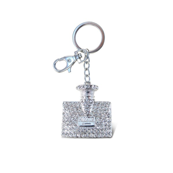 Perfume No. 5 Silver-colored Metal Puzzled Sparkling Charm