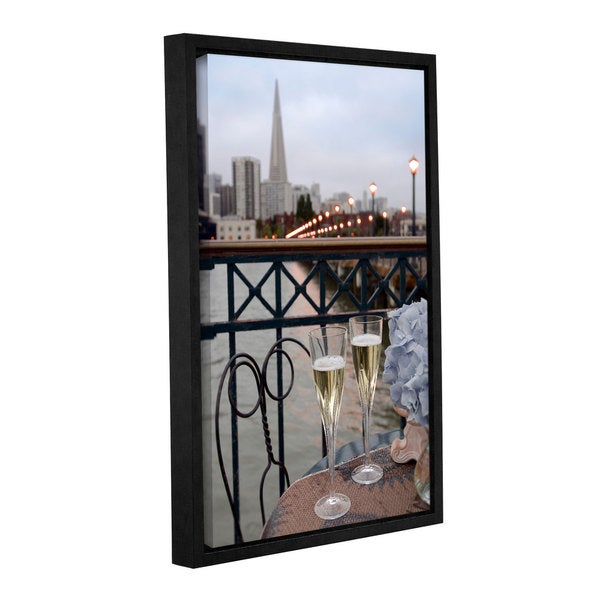Alan Blaustein's 'Dream Cafe Broadway Pier 20' Gallery Wrapped Floater-framed Canvas 19934704