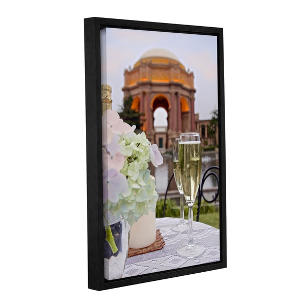 Alan Blaustein's 'Dream Cafe Palace Of Fine Art 24' Gallery Wrapped Floater-framed Canvas 19934722