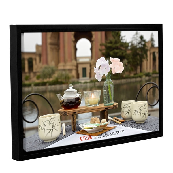 Alan Blaustein's 'Dream Cafe Palace Of Fine Art 27' Gallery Wrapped Floater-framed Canvas 19934728