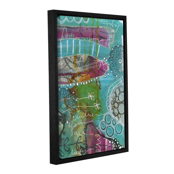 Denise braun's 'You Are Ready' Gallery Wrapped Floater-framed Canvas